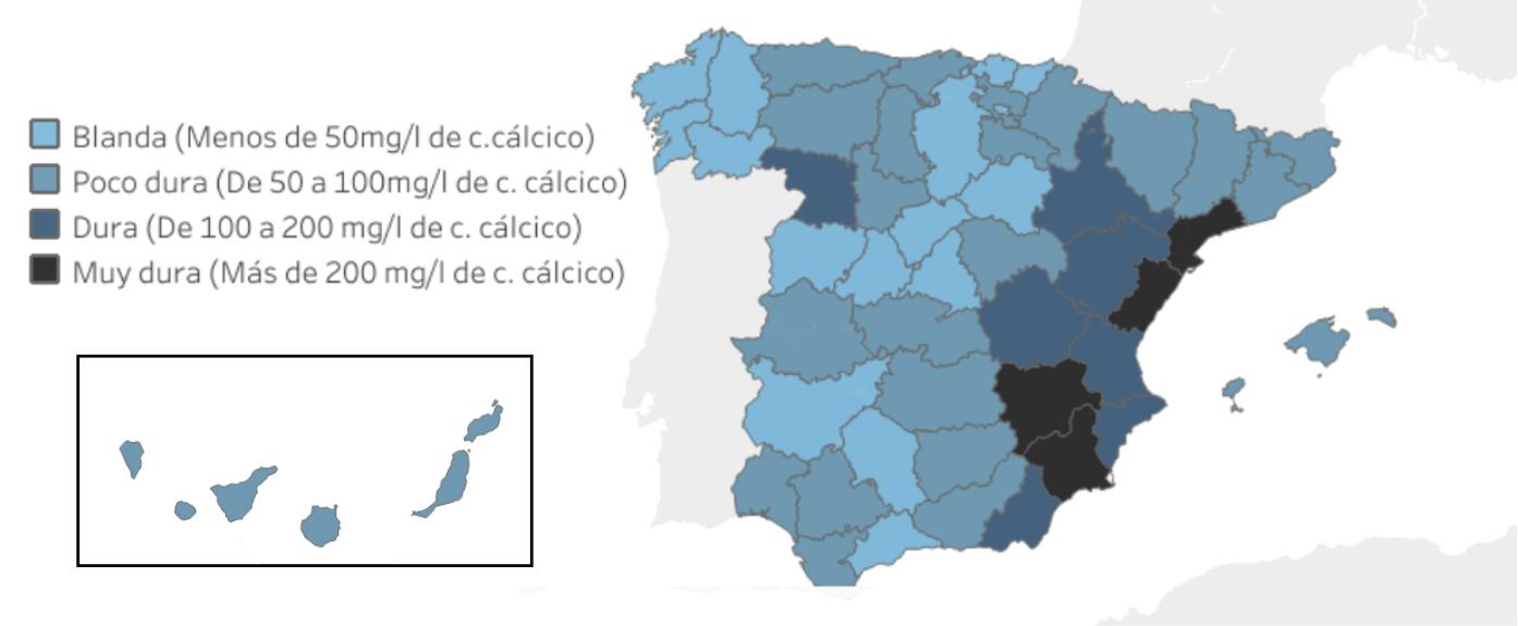 Aguas duras en España