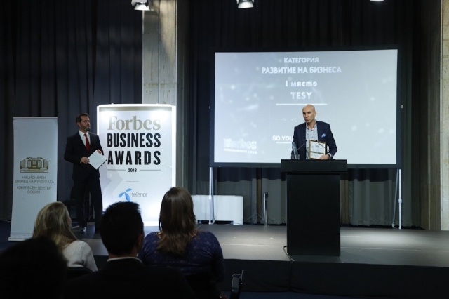 TESY obtiene tres premios Forbes Business Awards en 2018